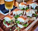 Lamb and minted pea sliders