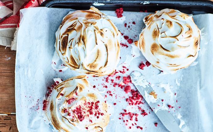 Lemon raspberry baked Alaska