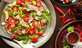 Thai beef salad with chilli lime sauce