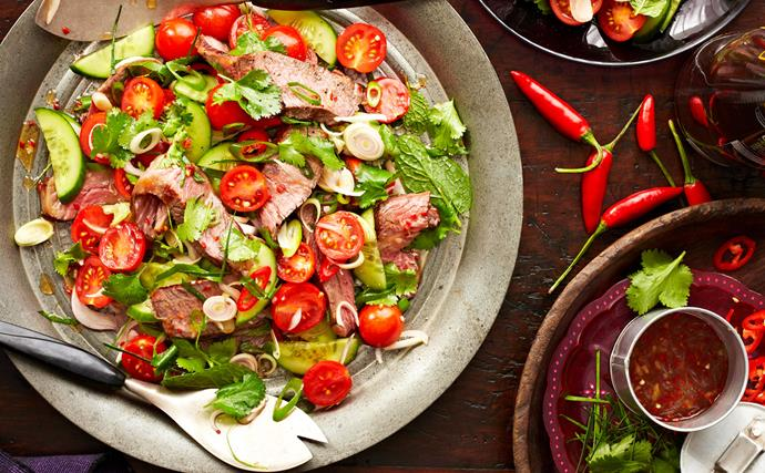 Thai beef salad with chilli dressing