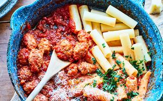 Nici Wickes' quick and easy meatballs for two