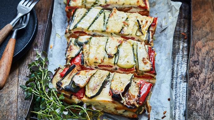 Courgette & vegetable bake