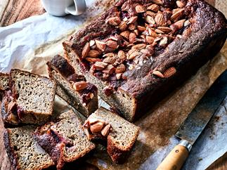 Gluten-free spiced banana and strawberry loaf