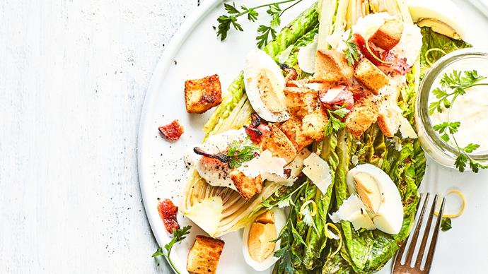 Cheat's grilled Caesar salad