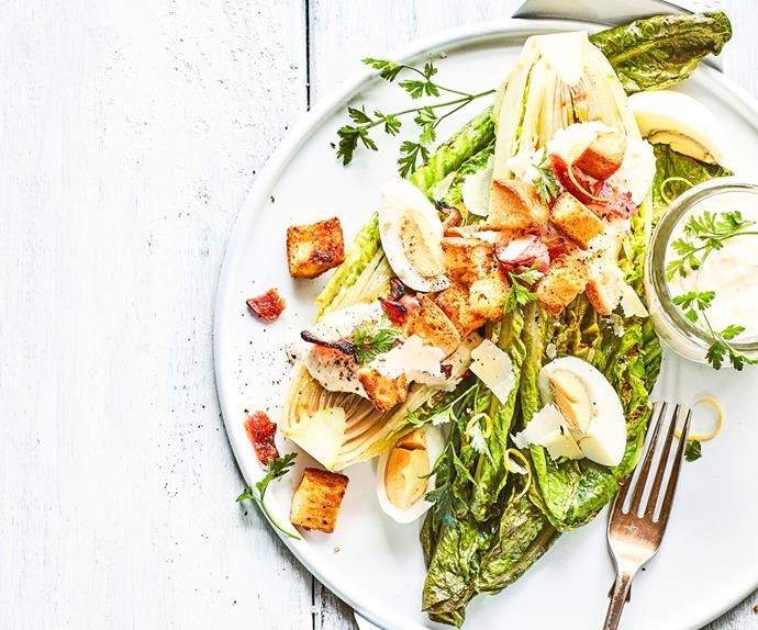 Cheat's grilled Caesar salad