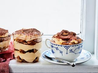 Classic tiramisu with mascarpone and espresso