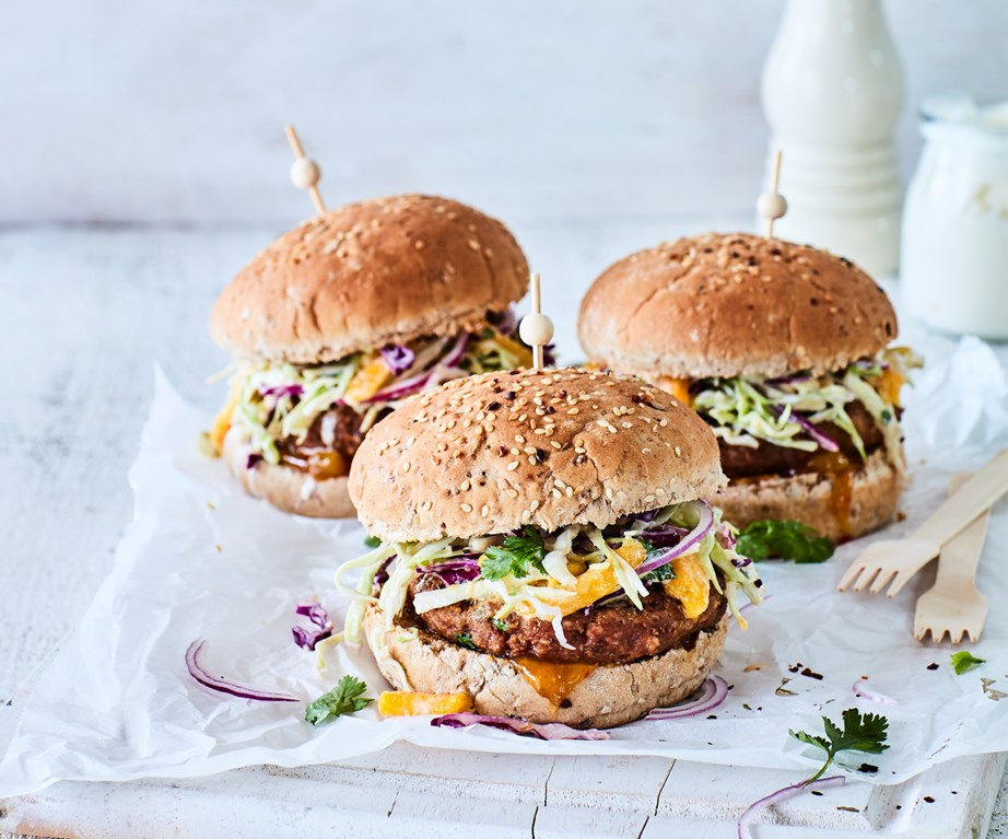 "[Spicy lemongrass pork burgers with mango slaw](https://www.foodtolove.co.nz/recipes/spicy-pork-burgers-mango-slaw-recipe-34864|target=""_blank"")"