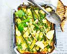 Asparagus and feta frittata