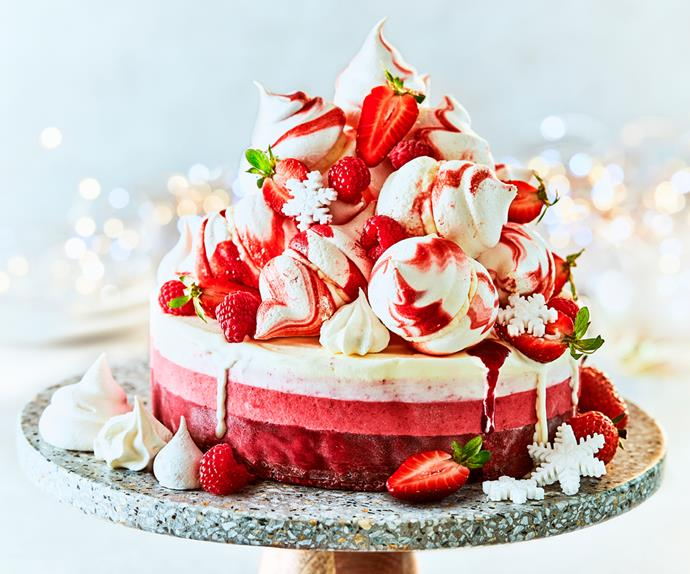 Summer pavlova ice cream torte