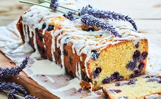Blueberry, lemon and lavender loaf