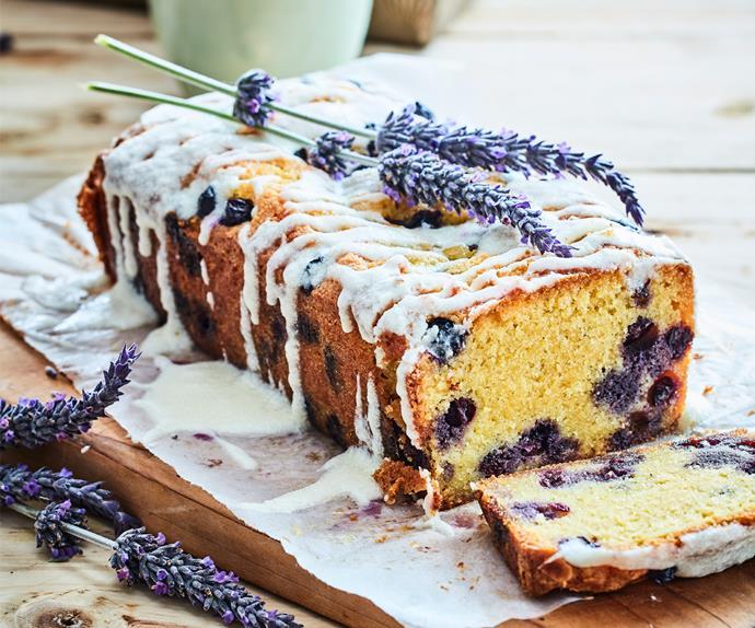 Blueberry, lemon and lavender loaf