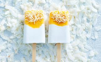 Dairy-free coconut and mango popsicles