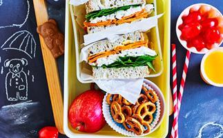 CHICKEN AND KUMARA SANDWICHES