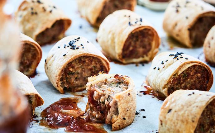 Gluten-free pork and fennel sausage rolls