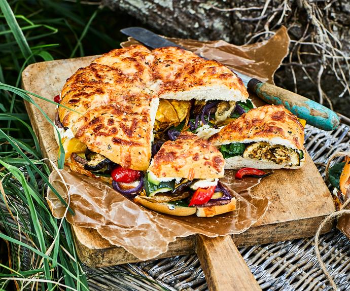 Roasted vege and feta sandwiches