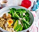 Avocado Buddha bowl with tahini dressing