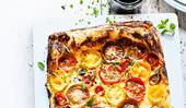 Tomato and herb tart