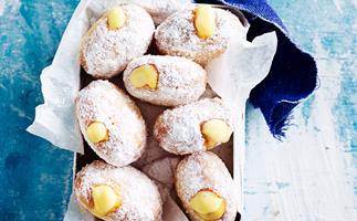 Gluten-free custard-filled doughnuts