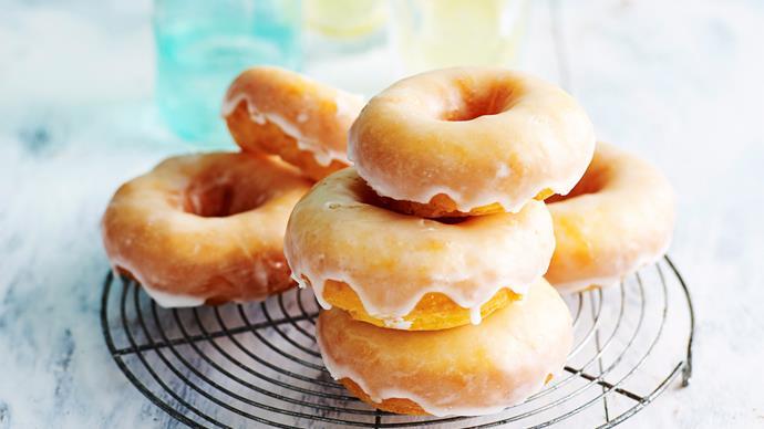 Gluten-free lemon-glazed doughnuts