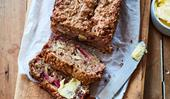 Apple and plum bran loaf