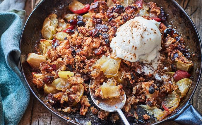 Skillet apple bread pudding