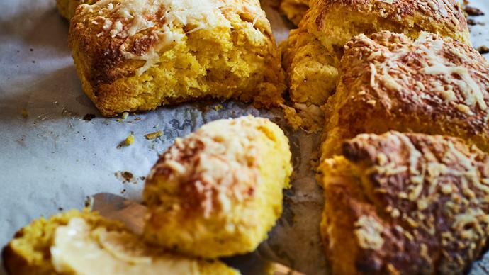 Pumpkin and Parmesan scones