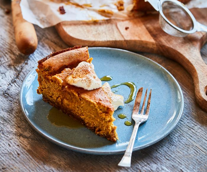 Pumpkin maple cheesecake