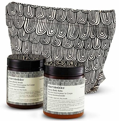 ****    PAMPER SET      Aesop-Marimekko Body Scrub and Balm Sauna Duet, $80.      **[aesop.com](http://aesop.com)**