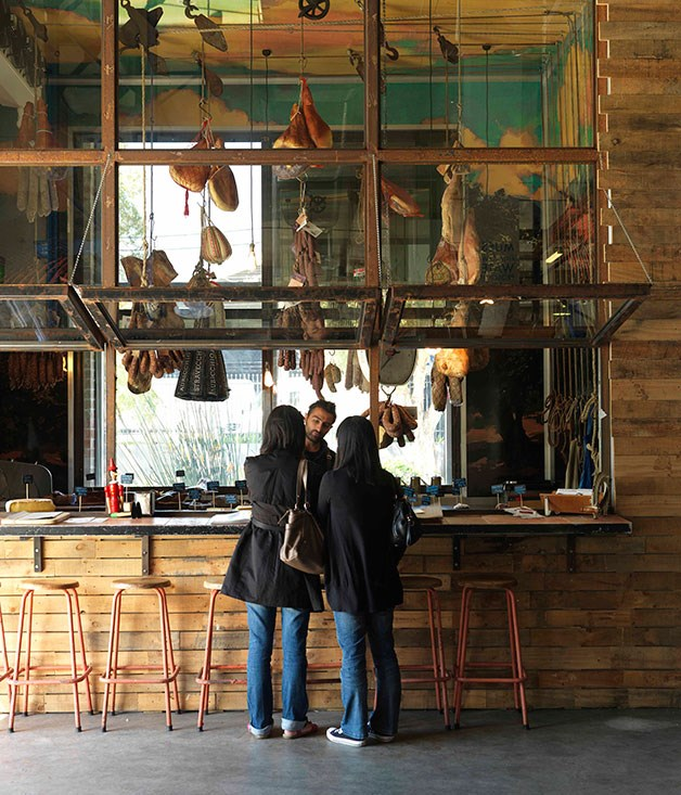 **** **Warehouse chic**   The Galería del Jamón at Salt Meats Cheese in Sydney's Alexandria.