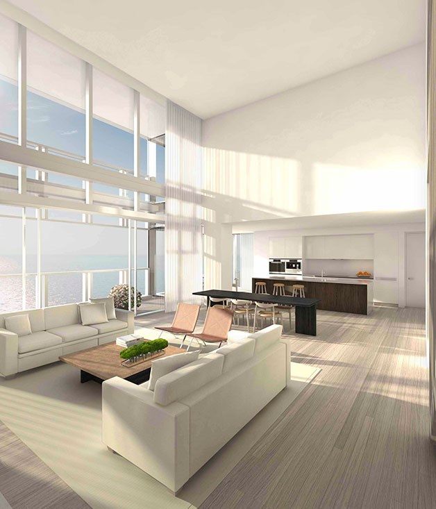 **** **Outdoor room**   Inside one of the Edition Residences at Miami Beach.