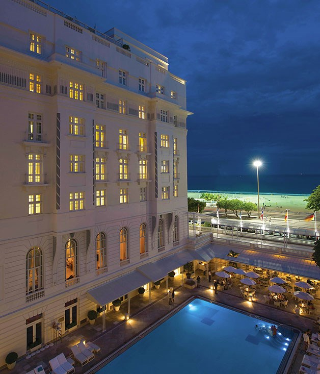 **** **Go to Rio**   The Copacabana Palace hotel, Rio de Janeiro.