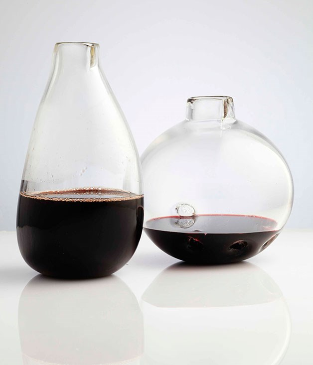 **** **More than a feeling**   Hand-blown decanters by Brian Hirst.