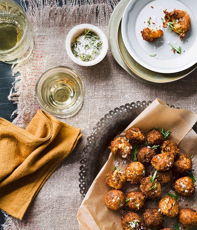 Cauliflower, aged Cheddar and mustard fritters