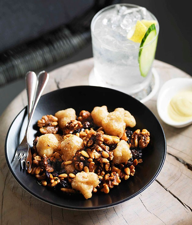 Stokehouse: Candied walnuts, fried spiced cauliflower, currants and pine nuts