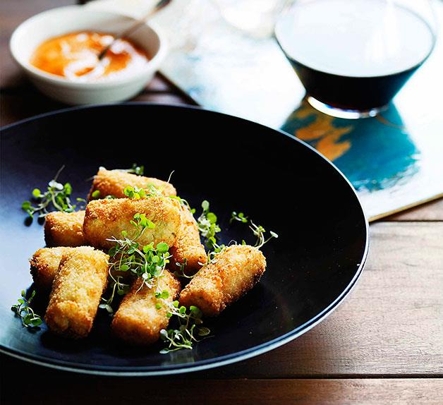 Stokehouse: Yabby croquettes with romesco
