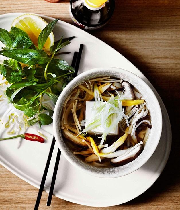 Dandelion: Tofu and mushroom pho with lily buds
