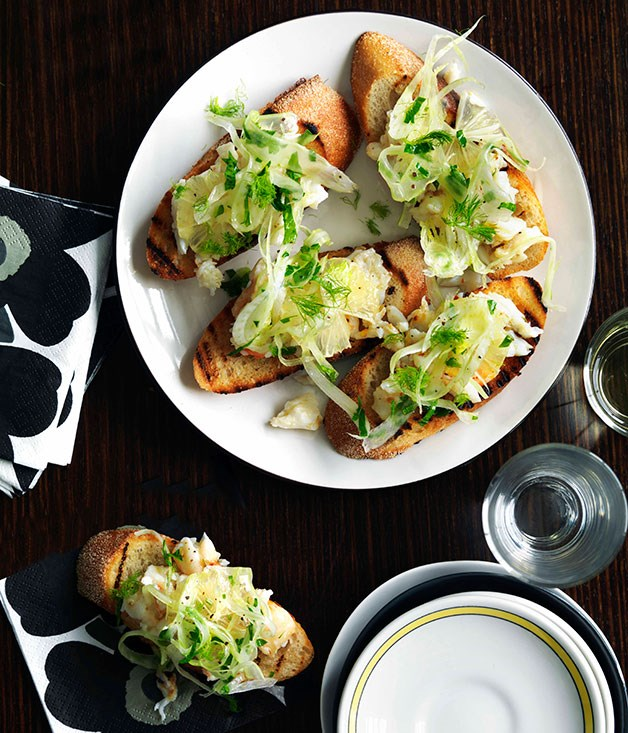 Love, Tilly Devine: Spanner crab, fennel, chilli and lemon bruschetta