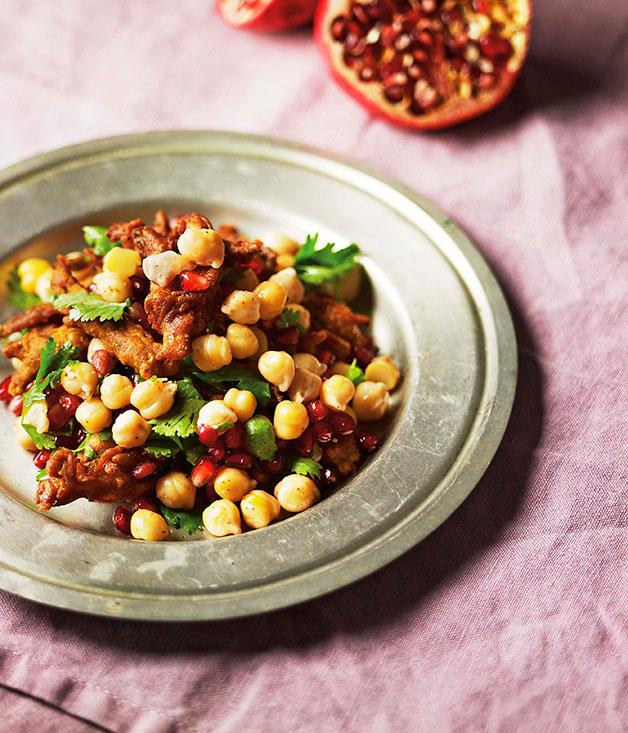 "[**Christine Manfield's crisp okra and pomegranate salad**](http://www.gourmettraveller.com.au/recipes/chefs-recipes/christine-manfield-crisp-okra-and-pomegranate-salad-7688|target=""_blank"")"