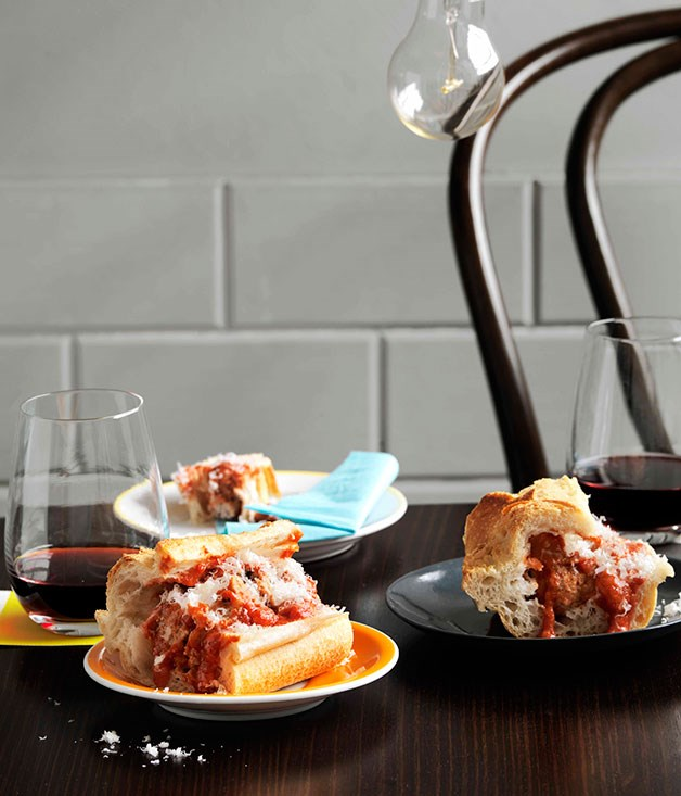 **The Wine Library: Meatball smashies** **The Wine Library: Meatball smashies**    [View Recipe](http://www.gourmettraveller.com.au/the-wine-library-meatball-smashies.htm)     PHOTOGRAPH **WILLIAM MEPPEM**