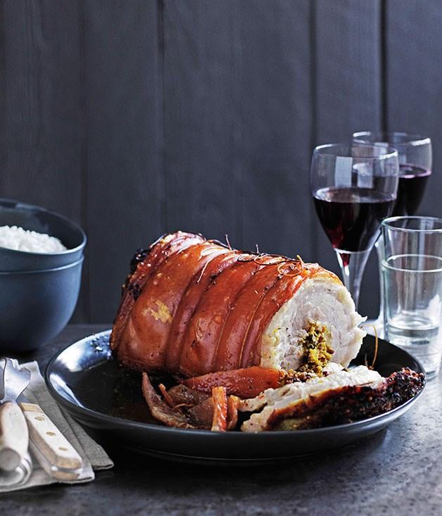 Balinese roast pork (Babi guling)