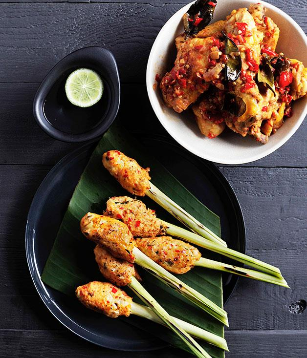 "**[Padang chilli fried chicken (Ayam goreng balado)](http://www.gourmettraveller.com.au/recipes/chefs-recipes/padang-chilli-fried-chicken-ayam-goreng-balado-7715|target=""_blank"")**"