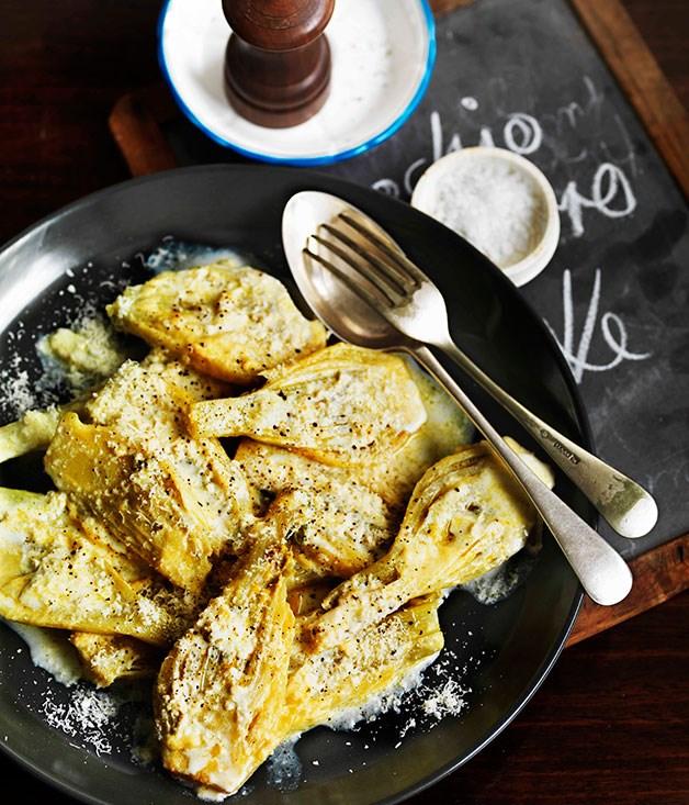 Finocchi al burro e latte (fennel with butter and milk)