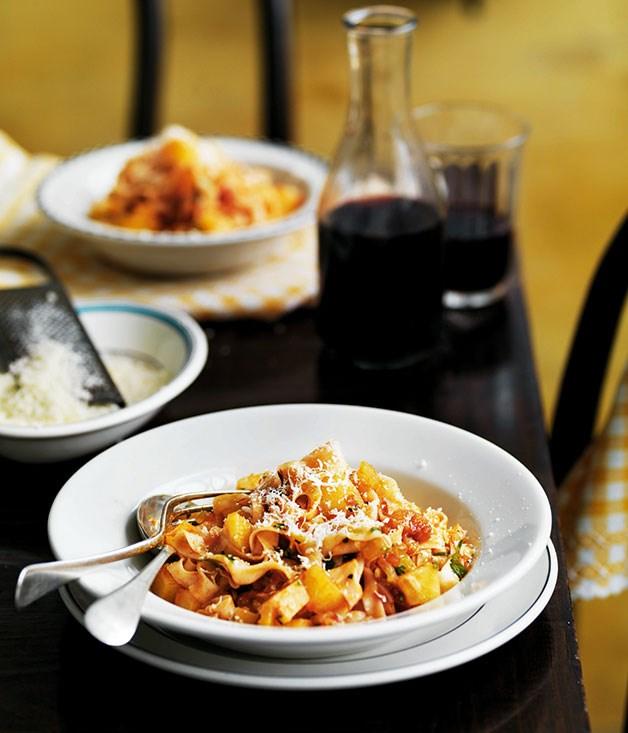 **Pasta e patate** **Pasta e patate**    [View Recipe](http://gourmettraveller.com.au/pasta-e-patate.htm)     PHOTOGRAPH **WILLIAM MEPPEM**