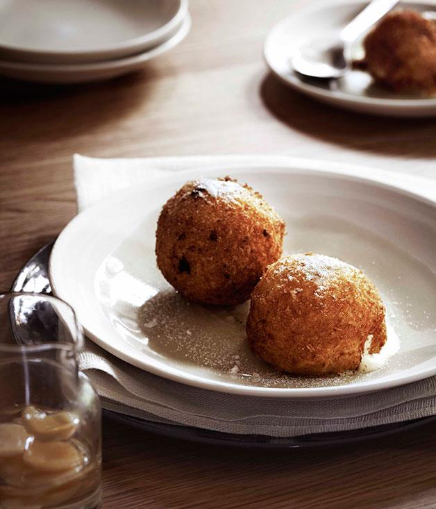"**[Andrew McConnell's deep-fried ice-cream with black sesame paste and ginger syrup](https://www.gourmettraveller.com.au/recipes/chefs-recipes/andrew-mcconnell-deep-fried-ice-cream-7750|target=""_blank"")**"