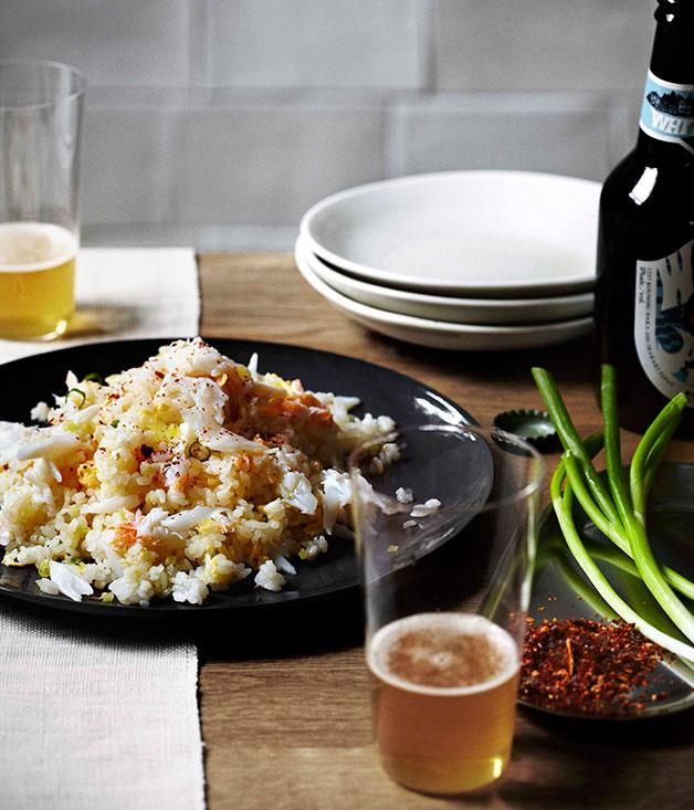 "**[Andrew McConnell's fried rice with spanner crab](http://www.gourmettraveller.com.au/recipes/chefs-recipes/andrew-mcconnell-fried-rice-7756|target=""_blank"")**"