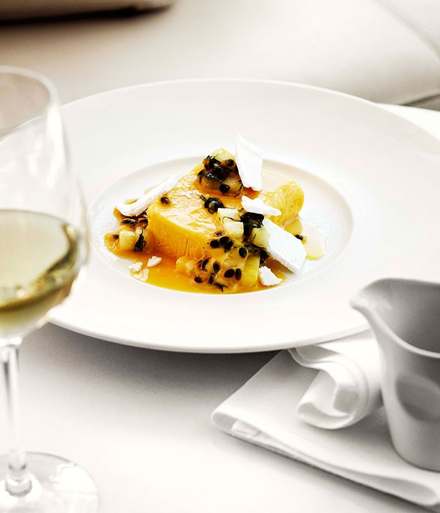 **** **Mango and yoghurt parfait with passionfruit and pineapple salad**    [View Recipe](http://www.gourmettraveller.com.au/mango-and-yoghurt-parfait-with-passionfruit-and-pineapple-salad.htm)     PHOTOGRAPH **SHARYN CAIRNS**