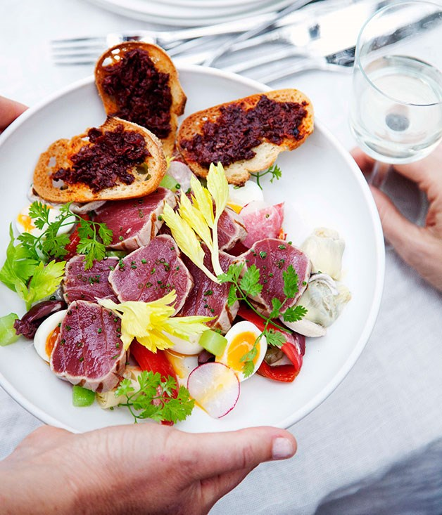 "[**Riviera salad**](https://www.gourmettraveller.com.au/recipes/chefs-recipes/dietmar-sawyere-riviera-salad-7803|target=""_blank"")"