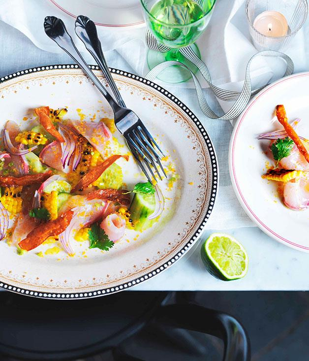 "[Porteno's kingfish ceviche](https://www.gourmettraveller.com.au/recipes/chefs-recipes/kingfish-ceviche-7480|target=""_blank"")"