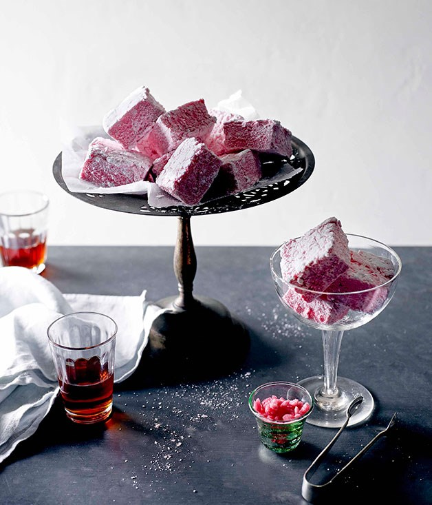 **** **Raspberry marshmallows**    [View Recipe](http://www.gourmettraveller.com.au/philippa-sibley-raspberry-marshmallows.htm)     PHOTOGRAPH **JOHN LAURIE**