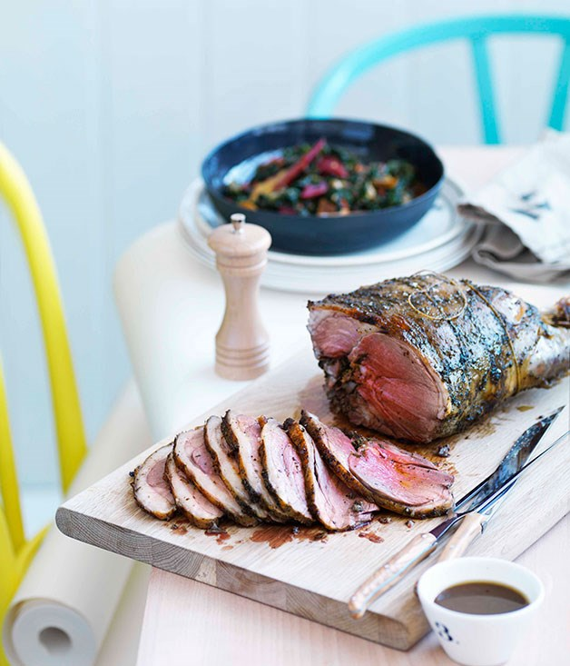 **Roast lamb leg** **Roast lamb leg**    [View Recipe](http://gourmettraveller.com.au/roast-lamb-leg.htm)     PHOTOGRAPH **WILLIAM MEPPEM**